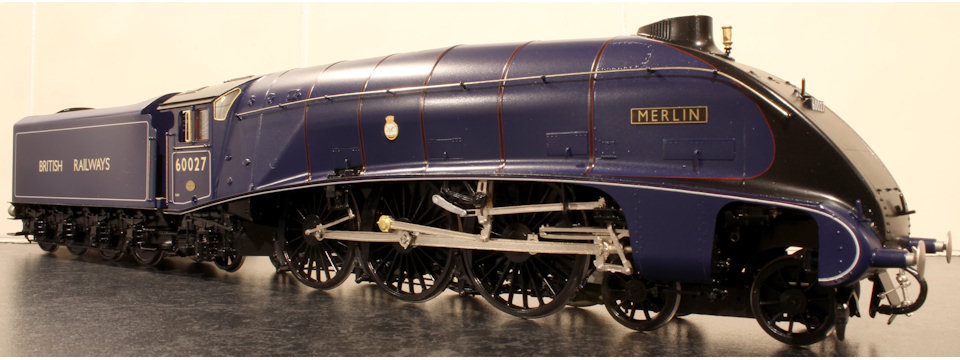 LNER/BR A4 60027 Merlin in ultramarine blue